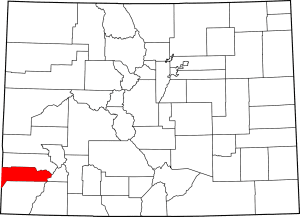 Dolores County Colorado Map