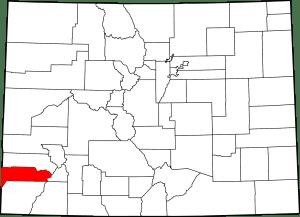 Dolores County Colorado Map
