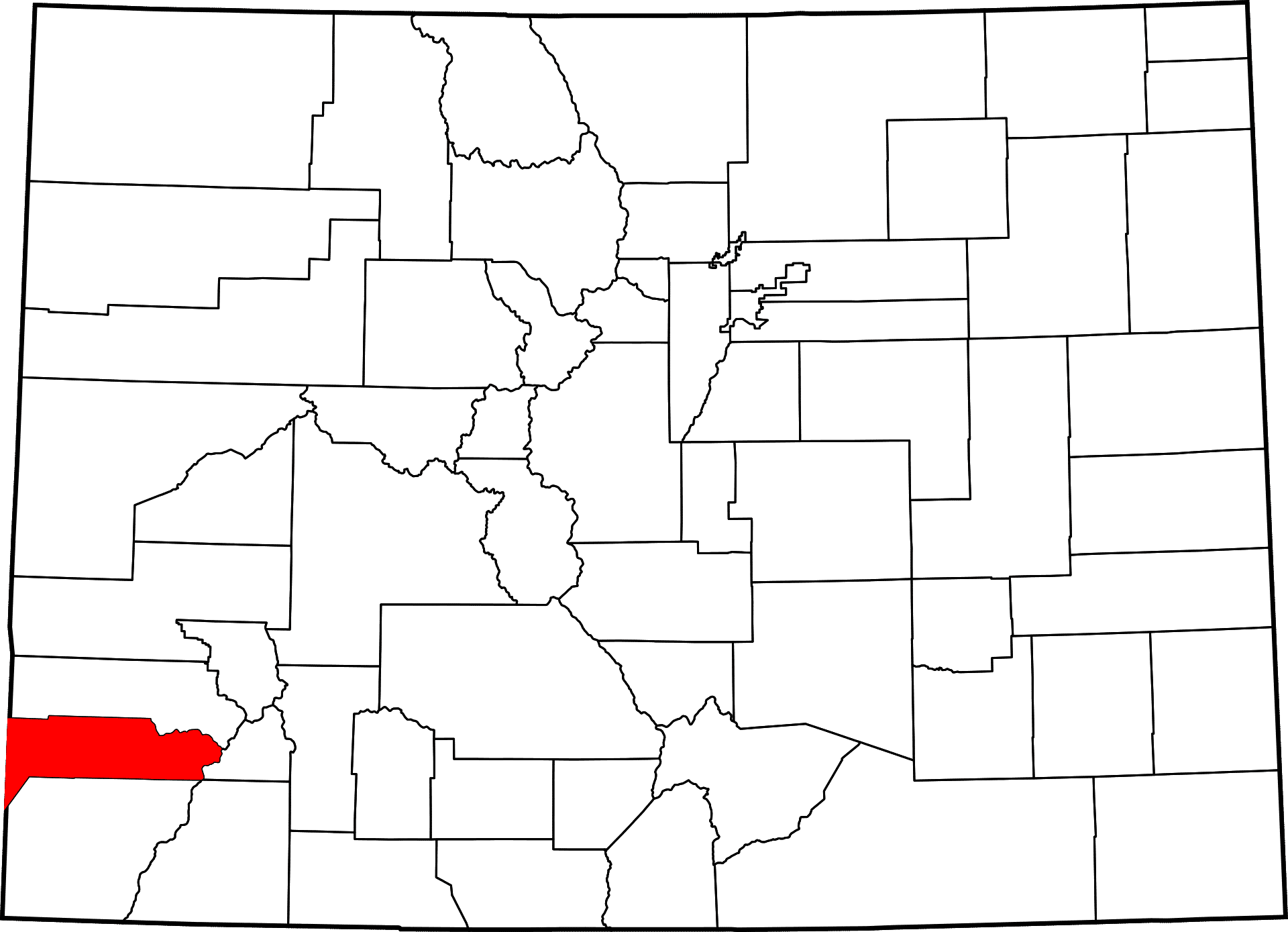 Dolores County Colorado Map History Towns Activities In Dolores Co
