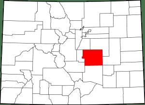 El Paso County Colorado Map
