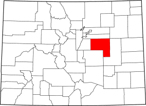 Elbert County Colorado Map
