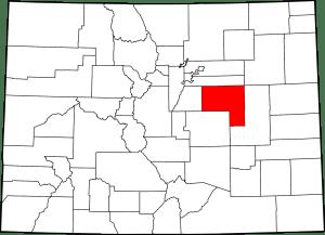Elbert County Colorado Map