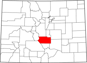 Fremont County Colorado Map