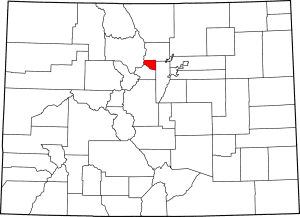 Gilpin County Colorado Map