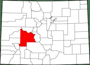 Gunnison County Colorado Map