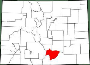 Huerfano County Colorado Map