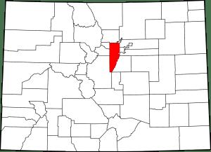 Jefferson County Colorado Map