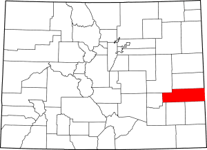 Kiowa County Colorado Map