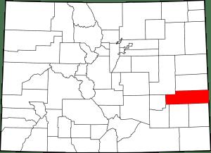 Kiowa County Colorado Map
