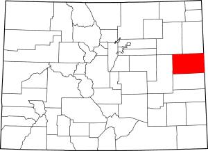 Kit Carson County Colorado Map