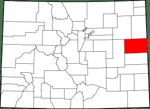 Kit Carson County Colorado Map
