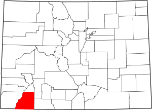 La Plata County Colorado Map