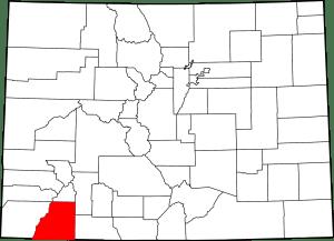 La Plata County Colorado Map