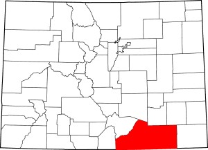 Las Animas County Colorado Map