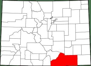 Las Animas County Colorado Map