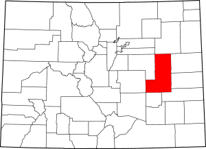 Lincoln County Colorado Map