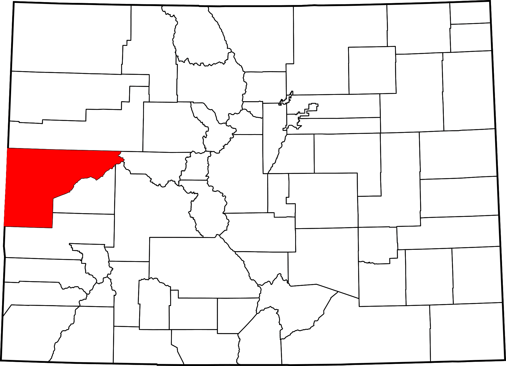 Mesa County Colorado Map History And Towns In Mesa Co