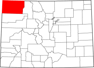 Moffat County Colorado Map