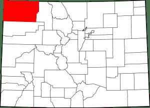Moffat County Colorado Map