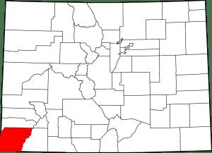 Montezuma County Colorado Map