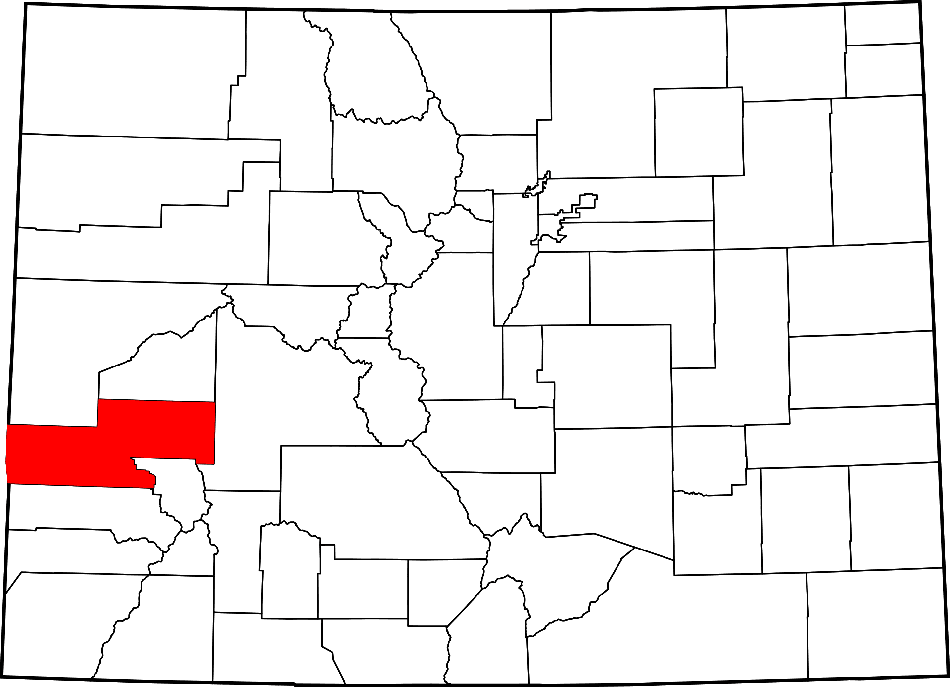 Montrose County Colorado Map History And Towns In Montrose Co