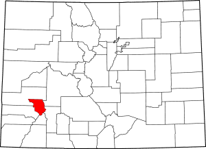 Ouray County Colorado Map