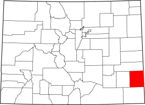 Prowers County Colorado Map