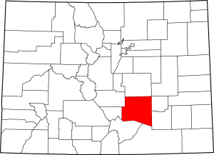 Pueblo County Colorado Map