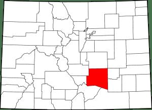 Pueblo County Colorado Map