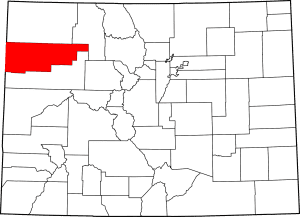 Rio Blanco County Colorado Map