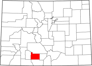 Rio Grande County Colorado Map