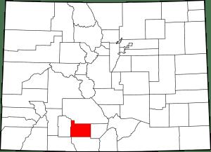 Rio Grande County Colorado Map