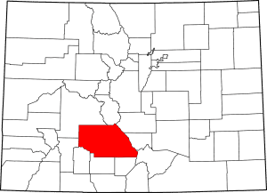 Saguache County Colorado Map