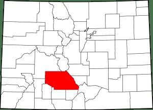 Saguache County Colorado Map
