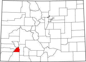 San Juan County Colorado Map