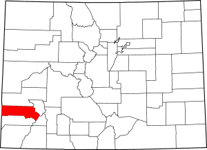 San Miguel County Colorado Map