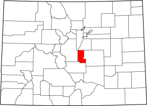 Teller County Colorado Map