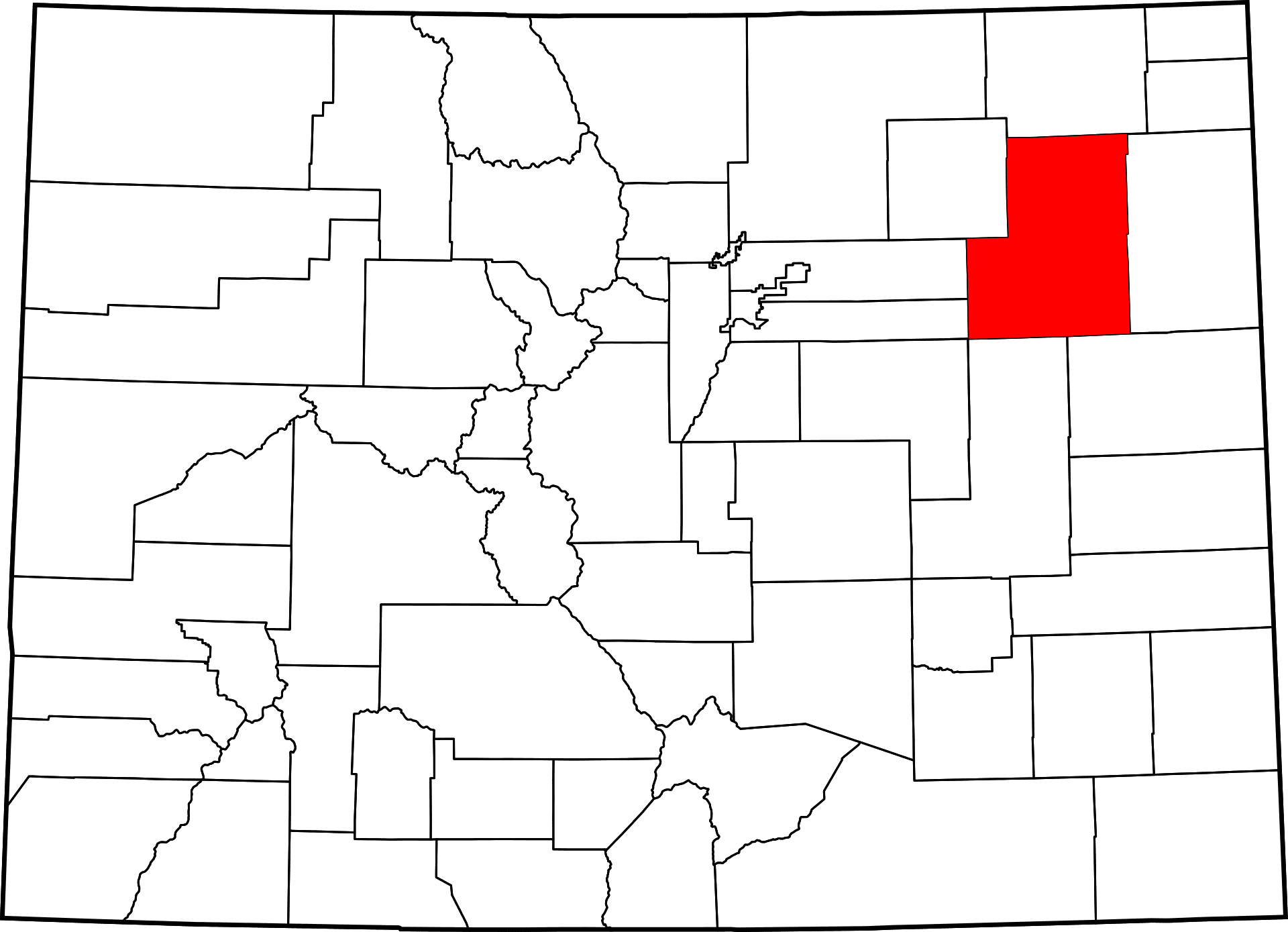 Washington County Colorado Map History Towns Activities In - Washington county map