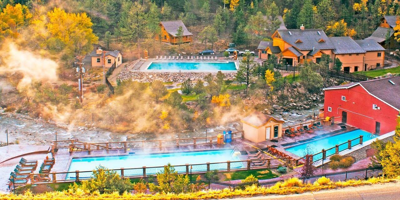 Mount Princeton Hot Springs Aerial View