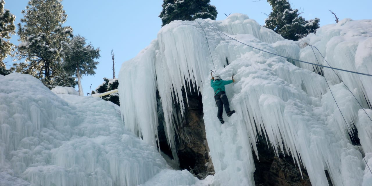 Ouray Ice Park Climber