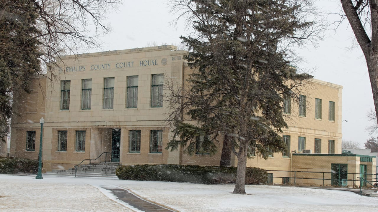 Phillips County Courthouse in Holyoke Colorado