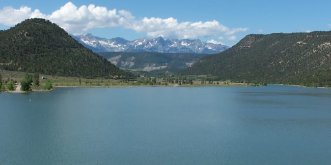 Ridgway State Park Reservoir Ouray County Colorado