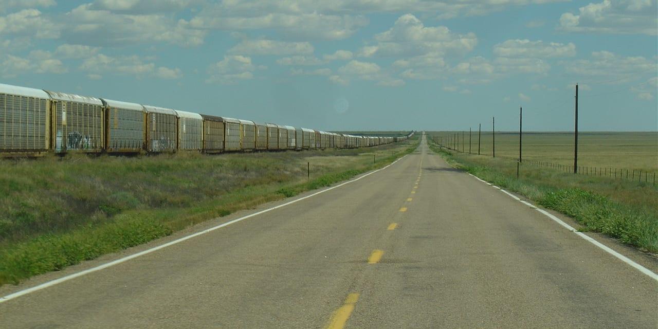 Sugar City Colorado Highway Train