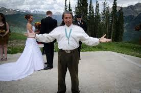 a wedding on the mountain
