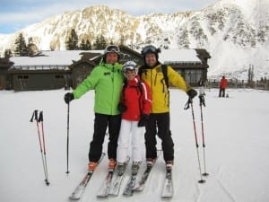 Leon and students at Arapahoe Basin
