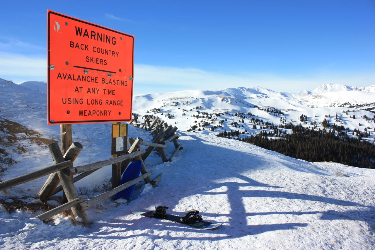 Loveland Pass Backcountry Skiing Sign