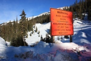 Loveland Pass Backcountry Warning
