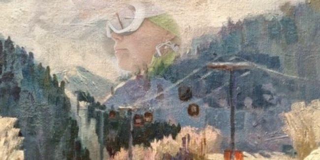 Cindy Leuchtenburg Ski instructor Painting