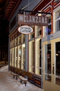 Melanzana Leadville Colorado Storefront Winter