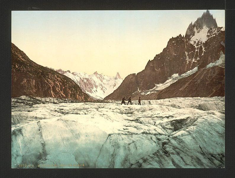 Chamonix Valley France Vintage